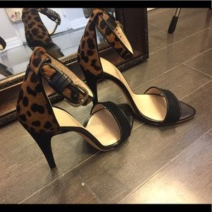 Club Monaco Case Leopard Calf Hair Sandal